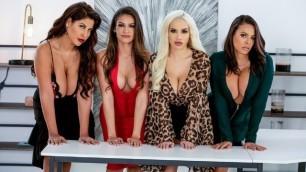 Bridgette B, Katana Kombat, Luna Star And Victoria June Fuck The Boss In The Office