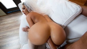 Cali Carter Drops To Her Knees In Big Wet Bridal Butt