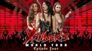 He Gives Us Exclusive Access To See Abigail Mac, Gina Valentina And Lena Paul In Xanders World Tour - Ep.4