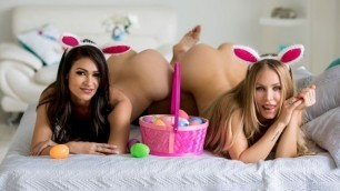 Twistys - Nicole Aniston Making Sure Young Katana Kombat Finds Every Egg