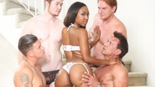 Devils Film - Chanell Heart On The White Sexy Lingerie In White Out
