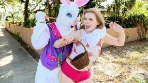 Dolly Leigh Slides Him In Stealing from the Easter Bunny's Basket