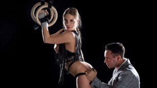 Babes - Alessandra Jane Moves Through The Poses In Restraint