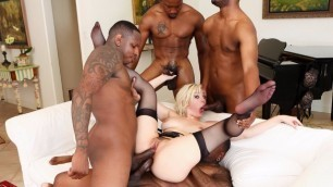 Devils Film - Group Sex Jenna Ivory With Her Big Black Friends In Blacked Out 4