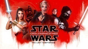 Cosmic Babes Georgie Lyall, Lily Labeau And  Adriana Chechik In Star Wars: The Last Temptation A DP XXX Parody