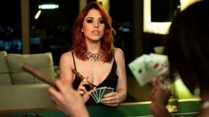 Sexy Molly Stewart And beautiful Alexis Tae Go Head-To-Head In An Amazing Game Of Poker