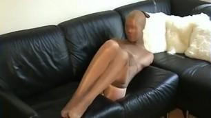 Pantyhose Nylon Encasement Girl self Mummification Cocoon