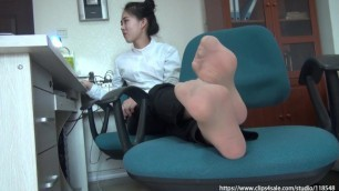 Asian Girl Xiajiahong Sock
