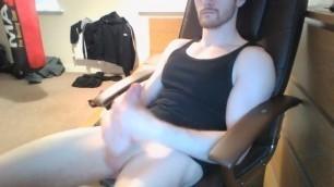 2 Handing my Big White Throbbing Cock