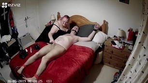 Tied to Bed in Tights with CBT and Post Orgasm Torment - Part 1