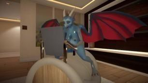 Yiffalicious Dragon Dildo Ride 2