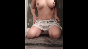 Friend uses Lush Vibrator on Me. so Horny that I Fuck my Creamy Pussy after