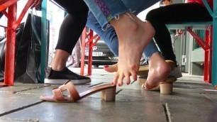 German Thai Girl's Sexy Sandal Dipping