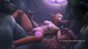 World of Warcraft Porn Parody, Throatfucking