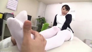 Nurse White Pantyhose Footjob