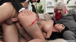 Big Tit Lily Lane Cucks her Husband by Fucking the well Endowed Chauffeur