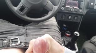 Boy Mastrubates in Public and Cums in a Car