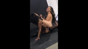 Demi Sutra, Alina Lopez, & Angela White BTS for Exposure on DP
