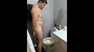 My Sexy Man Pissing. in the next Video he will be Pissing in my Mouth :-p