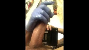 Hung Tattooed Stud Jerks till he Blows Wearing Gloves(cumshot Closeup)