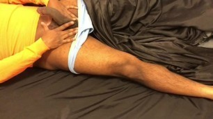 Stroking myself on Satin Sheets - Part 1 of 2 (Raw, no Lotion)