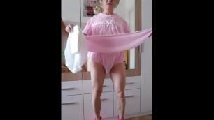 Diaper Sissy Slave Vivian Tootinyforher new Baby Girl Dress
