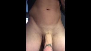 Big Cock Spitting Cum Hands Free