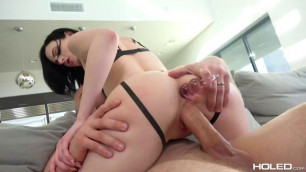 Alex Harper wearing sexy outfit takes rough butt sex