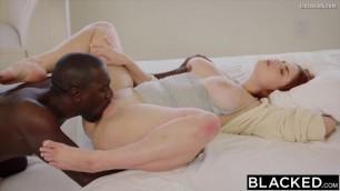 Blacked - redhead takes a big black cock