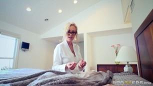 Brandi Love caught masturbating stepson by dad