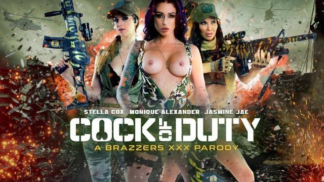 Brazzers - Busty Soldiers Jasmine Jae & Monique Alexander & Stella Cox  In Cock Of Duty: A XXX Parody