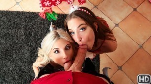 Reality Kings - Piper Perri And Jessie Wylde Are Not Shy Of Anyone In Mistletoe Tramp