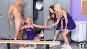 Young Cheerleaders Lyra Law Cheers For Big Dick