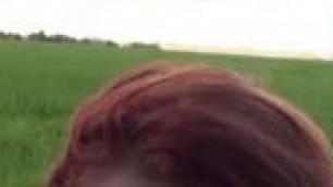 Ella Hughes British Redhead Sucks Deep Throat Cock in the Strangers Car Mofos HD