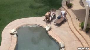 Alison Tyler BBW Poolside Banging Hidden Cams