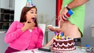 Cute Birthday-Girl Carolina Sweets Wants For The First Time To Try A Big Cock
