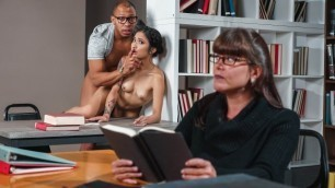 Reality Kings - Avery Black Is Going To Wanna Get Frisky In The Library